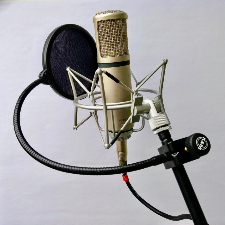 Voiceover microphone photo